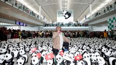 1600 pandas, with French artist Paulo Grangeon, arrive in Hong Kong to launch the month-long '1600 Pandas World Tour in Hong Kong: Creativity Meets Conservation'.