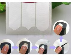 3 styles in French Nail Tip Guide Stickers, DIY Nail Art, 3D Nail Design, nail…