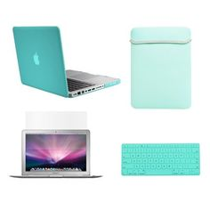 Amazon.com: TopCase® Macbook Pro 15 15-inch A1286 4 in 1 Bundle - Rubberized Turquoise Blue Hard Case Cover + Matching Color Soft Sleeve Bag + Silicone Keyboard Cover + LCD HD Clear Screen Protector With TopCase® Mouse Pad: Computers & Accessories