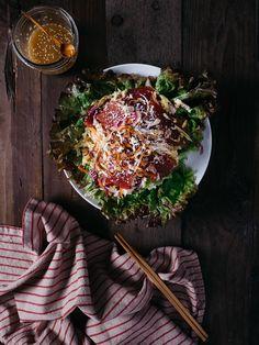 Ahi Sashimi Salad with Crispy Wonton Strips Recipe — Fix Feast Flair