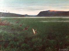 Theodor Kittelsen - Twelve Wild Geese (70,0 x 52,0 cm)