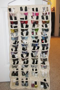 Nail Polish Storage Idea
