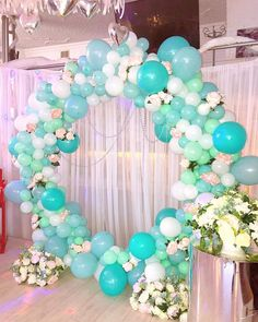 Party Decoration with Balloons – Home Decoration ideas Fiesta Decorations, Balloon Decorations, Birthday Party Decorations, Baby Shower Decorations, Birthday Parties, Wedding Decorations, Balloon Ideas, Balloon Columns, Balloon Arch