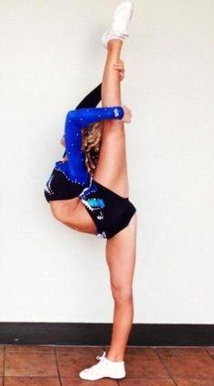 Stunts To Strive For: Needle, Scorpion, Bow & Arrow, Heel Stretch & Scale Cheerleading Moves, Cheer Stunts, Cheer Dance, Competitive Cheerleading, Cheer Flexibility, Back Flexibility Stretches, Stretching, Cheer Needle, Cheer Athletics