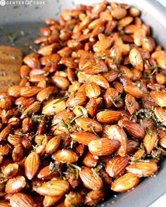 These Quick Seasoned Nuts are so easy, using just a few ingredients each and made in under 10 minutes. A sweet option and a savory option that are equally delicious. Nut Recipes, Almond Recipes, Snack Recipes, Cooking Recipes, Spicy Nuts, Roasted Nuts, Garlic Roasted Almonds Recipe, Raw Almonds, Spiced Almonds