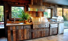 Outdoor kitchen idea. My dad would love this!
