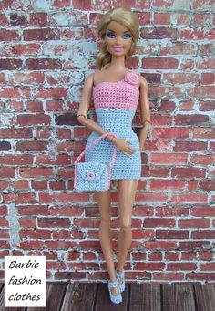 Dress, Purse & Shoes - (no pattern) #
