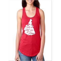 Flash Belle Tale as Old as Time Beauty and the Beast Fitted Racerback... ($14) ❤ liked on Polyvore featuring tops, pink, tanks, women's clothing, racerback tank tops, racer back tank tops, racer back tank, fitted racerback tank and pink racerback tank