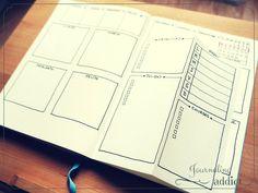 bullet journal bujo dutch door layout spread