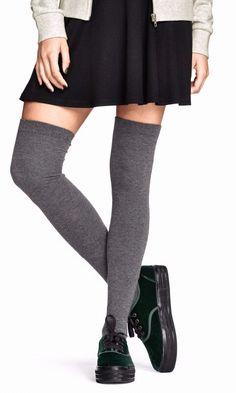 Overknee socks (black) H&M