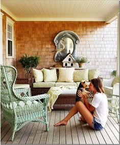 More wicker dressed up with wonderful English style fabrics – the mirror!!! The mirror!!! That must tell you something!