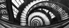 Chicago Rookery Building Staircase Black and White by cevphoto, $35.00