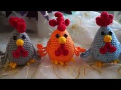 Как связать петуха крючком. Часть 1 (Crochet. Chicken. Part 1) - YouTube