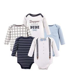 Dapper Bow-Tie Long-Sleeve Bodysuit Set - Newborn & Infant #zulily #zulilyfinds