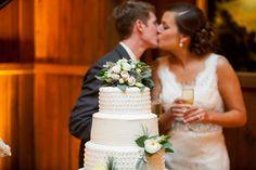 wedding cake cutting | anna paschal photography | Emerywood Baptist Church   Adaumont Farm Wedding  | High Point NC Wedding Planner