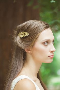 Gold Leaf Bobby Pin Leaf Hair Pin Leaf Hair Clip Bridal Hair Bobby Pin Bridal Hair Clip Rustic Woodland Wedding Gold Bridal Hair Accessories