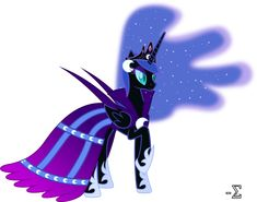 Nightmare Moon's design was tough to figure out at first. Description from trinityinyang.deviantart.com. I searched for this on bing.com/images