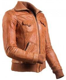 Brown Biker Leather Jacket - Ryder