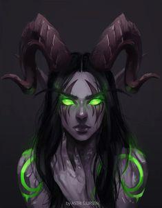 World of Warcraft Art Board ^^ // Blizzard // wow // // Digital // Geek // Night Elf Demon Hunter Dark Fantasy Art, Fantasy Girl, Fantasy Artwork, Final Fantasy, Fantasy Character Design, Character Art, Arte Aries, Warcraft Art, Warcraft Legion