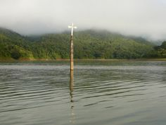 http://www.abandonedplaygrounds.com/the-abandoned-submerged-church-and-town-of-potosi-in-the-uribante-reservoir/