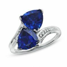 Zales Sapphire Ring $67