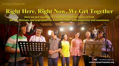 "The Hymn of Life Experience ""Right Here, Right Now, We Get Together"" Christian Music Videos, Christian Movies, Praise And Worship Songs, Praise God, Tagalog, Knowing God, News Songs, Persona, Words"