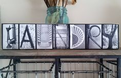 Laundry Room Sign - Laundry Room Letter Photography - Alphabet Photography Laundry Sign - Laundry Room Decorations - Laundry Room Decor by Gr8ShotsAlphabetLady on Etsy