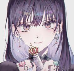 Dark Anime Girl, Pretty Anime Girl, Beautiful Anime Girl, Kawaii Anime Girl, Anime Art Girl, Manga Girl, Anime Manga, Manhwa, Easy Anime Eyes