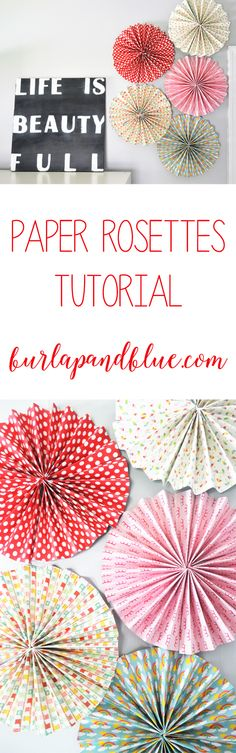 paper rosettes tutorial! an easy scrapbook paper craft project! #SpringCreations #ad