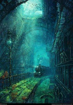 The forgotten legacy of Gustav Eiffel - Michael Raaflaub Illustration Fantasy Places, Fantasy World, Fantasy Kunst, Anime Fantasy, Dark Fantasy, Wow Art, Anime Scenery, Stock Foto, Fantasy Artwork