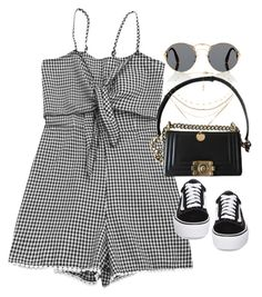 """""""Untitled #3418"""" by angieswardrobe ❤ liked on Polyvore featuring Prada, Vans and Chanel"""