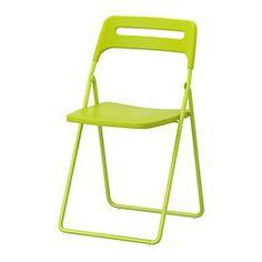 NISSE Folding chair - green - IKEA