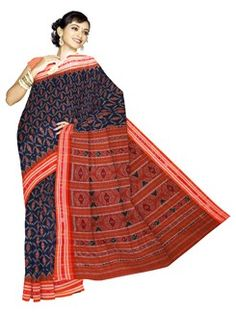 UNM3728-Marvelous casual blue pochampally handloom cotton silk saree