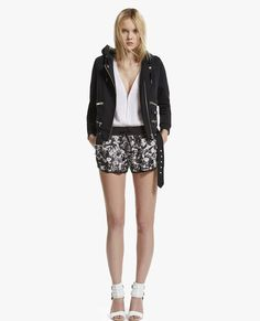 "Nylon shorts with ""Graphic Flowers"" print - The Kooples"