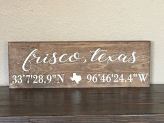 Latitude Longitude Sign Coordinates Sign Home City by 2RuppDesigns