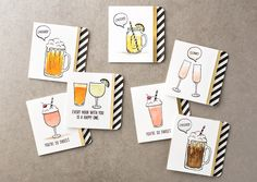 We love this adorable set of mini cards made with the even more adorable Mixed Drinks stamp set! #stampinup