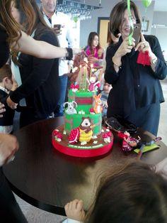 Masha and the bear birthday cake