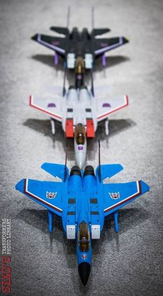 Transformers Masterpiece MP-11SW Skywarp, MP-11 Starscream (Coronation Ver.) and MP-11T Thundercracker Transformers Masterpiece, Transformers Action Figures, Transformers Toys, Gi Joe, Retro Toys, Vintage Toys, Transformers Generation 1, Transformers Collection, Caricatures