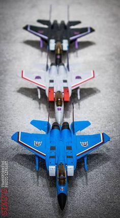 Transformers Masterpiece MP-11SW Skywarp, MP-11 Starscream (Coronation Ver.) and MP-11T Thundercracker