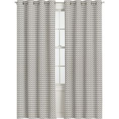 Curtain Option :: Ross Natural Sheer Curtain Panels in Curtains Sliding Door Window Treatments, Window Coverings, Sheer Curtain Panels, Panel Curtains, Grey Chevron Curtains, Slider Curtains, Curtain Hardware, Crate And Barrel, Living Room Designs