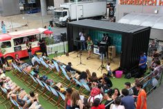 BOXPARK (shopping place) has ACOUSTIC STAGE and live acts