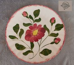 Red Nocturne DINNER PLATE Blue Ridge Southern Pottery have 100s more Blue Ridge  #BlueRidgeSoutheryPottery