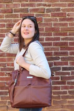 How to Choose the Best Diaper Bag, with Lily Jade - the Shaylee Bag in Brandy