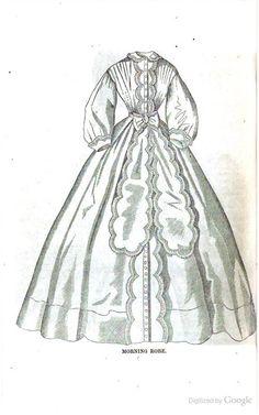 1863 Arthur's Ladies' Home Magazine. Morning Robe.
