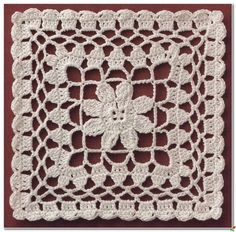 Transcendent Crochet a Solid Granny Square Ideas. Inconceivable Crochet a Solid Granny Square Ideas. Filet Crochet, Beau Crochet, Crochet Quilt, Crochet Blocks, Crochet Squares, Thread Crochet, Crochet Doilies, Crochet Flowers, Granny Squares