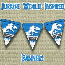 Banners Free Printable   Jurassic World Printables, Activities and Crafts   SKGaleana