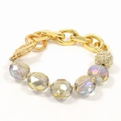 JoJo Loves You- Topaz with Pink Half Chain Bracelet