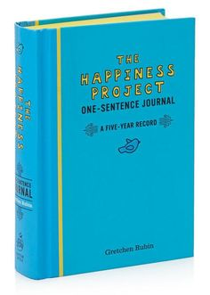 A journal that encourages you to write one sentence a day.