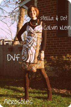How to wear a DVF summer wrap dress in winter
