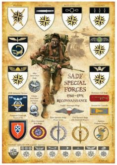 """Reconnaissance Commandos commonly known as """"Recce's"""" in the SADF Military Insignia, Military Police, Military Humor, Military Gear, Special Ops, Special Forces, South African Air Force, Army Day, Defence Force"""